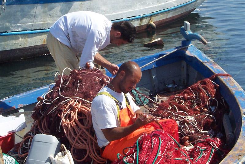 Fishermen in Calasetta Sardinia